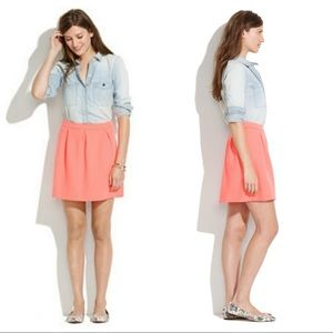 Madewell Coral Flare Skirt